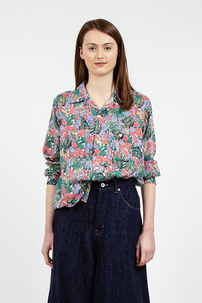 Cut-Off Print Shirt