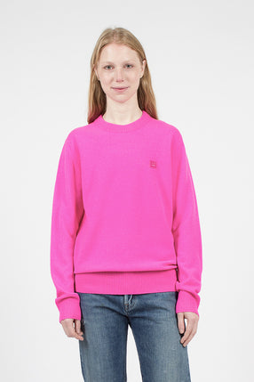 Bright Pink Nalon Face Sweater