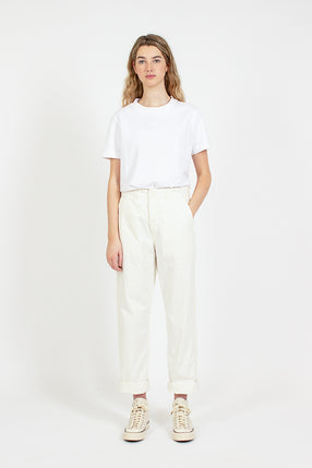 Ecru French Work Pant