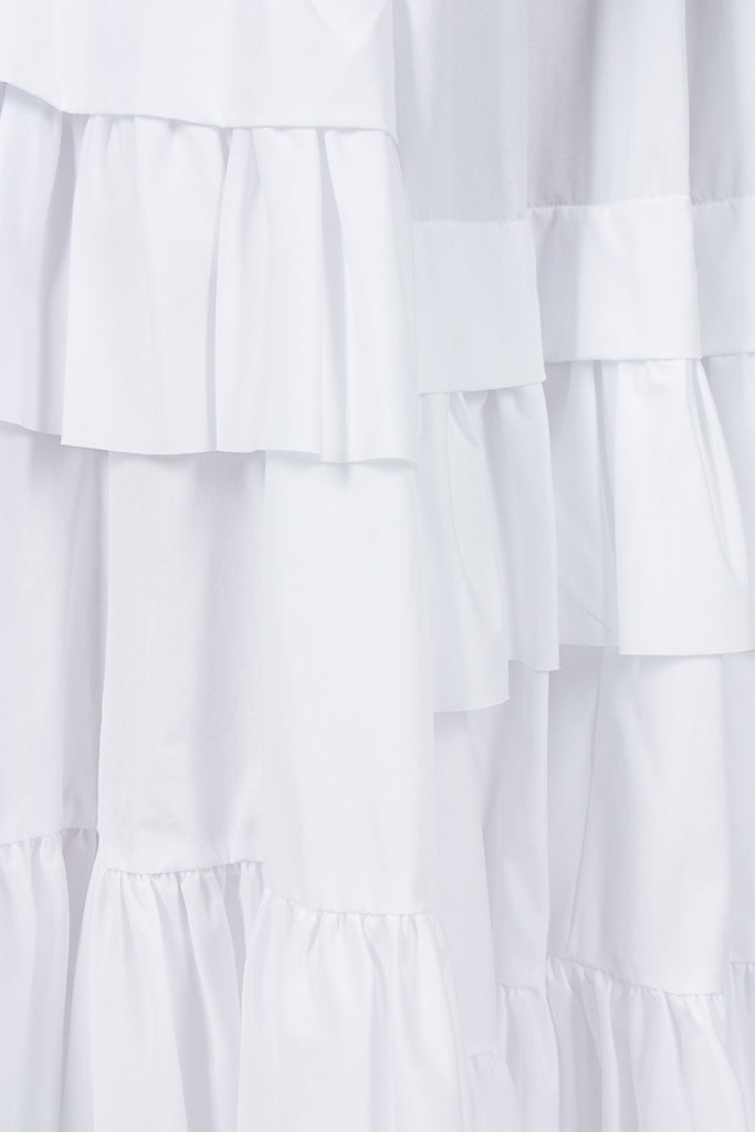 White Overlay Skirt