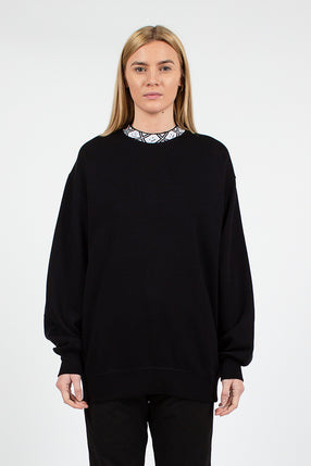 Black Future Mock Neck Sweatshirt