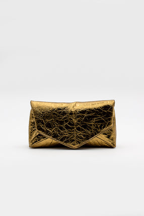 Textured Gold Clutch