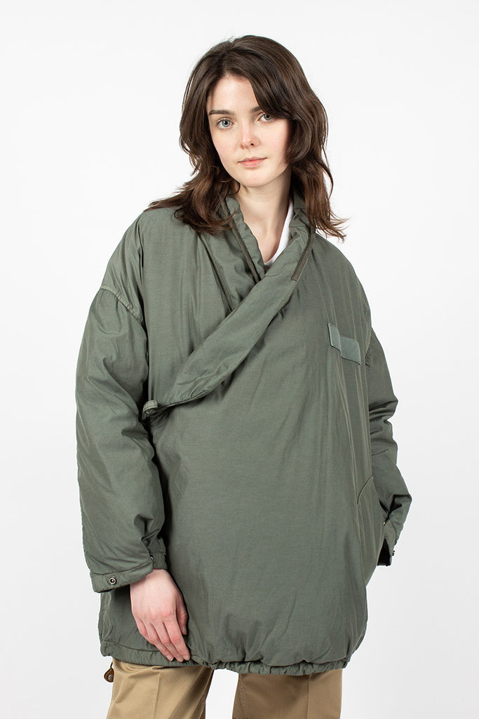 Chamdo Garment Dyed Short Robe Olive