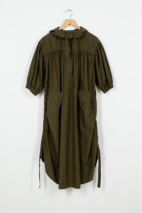 Drim Khaki Hood Dress