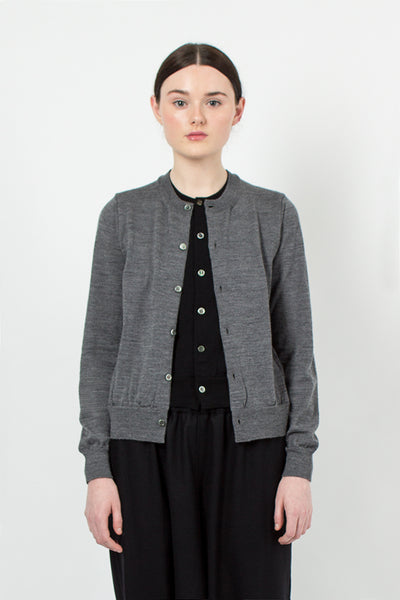 Grey/Black Layered Cardigan
