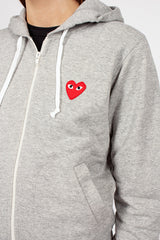 PLAY Grey Zip Hoody