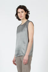 Grey Silk Muscle T