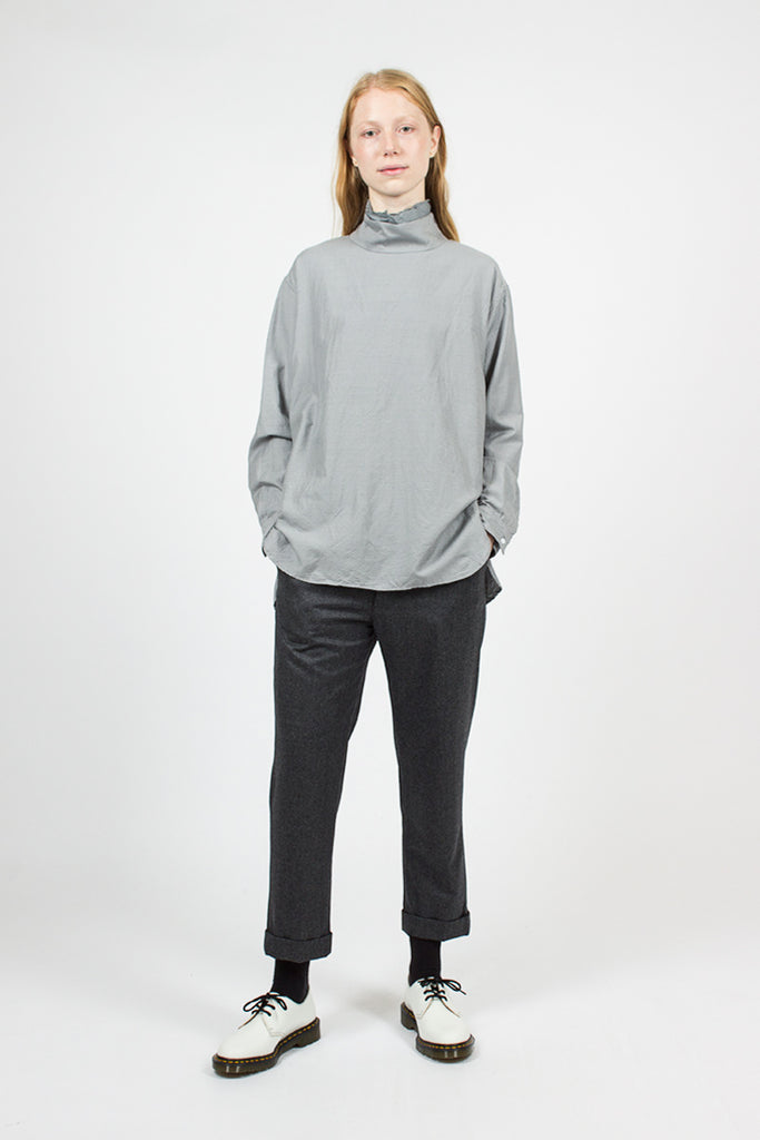 Dark Grey Double Cuff Narrow Trousers