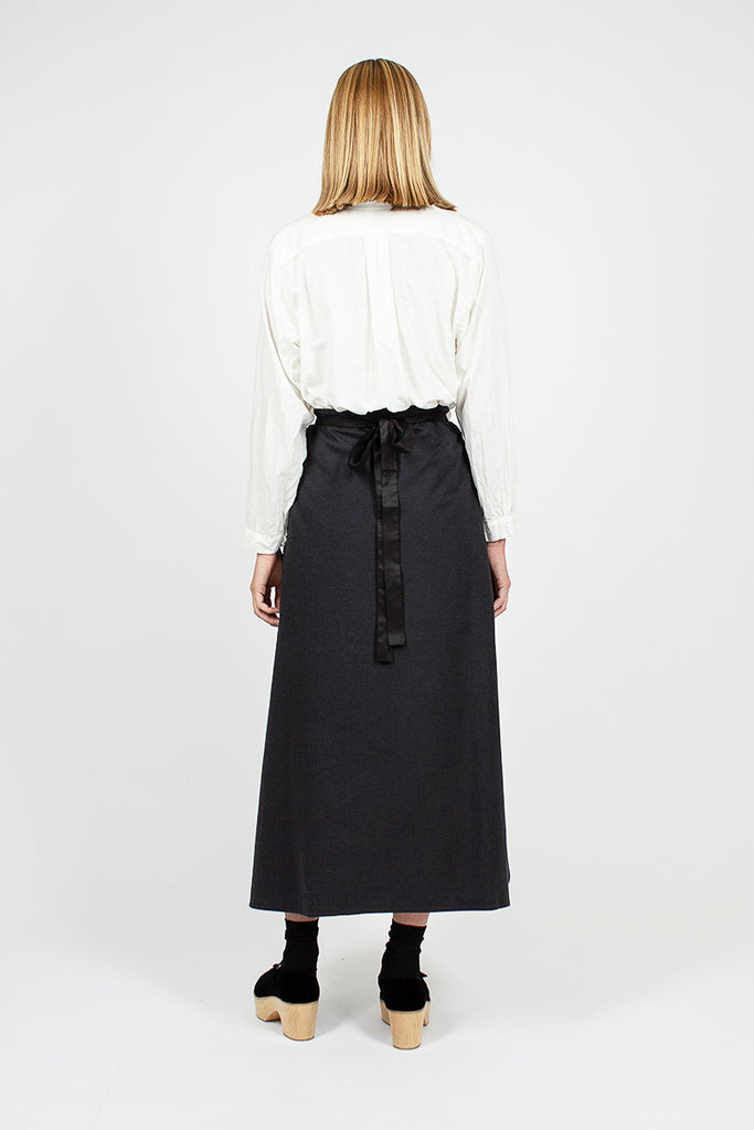 Drawstring Anthracite Skirt