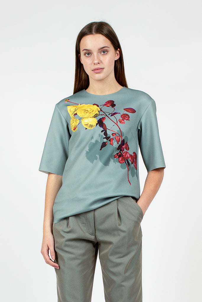 Grey Floral T-Shirt