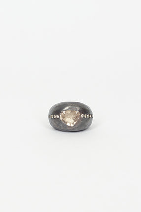 Hema Topaz/Diamond Ring