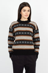 Fairisle Black/Brown Knit Sweater