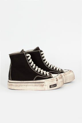 Skagway Hi Distressed Sneaker Black