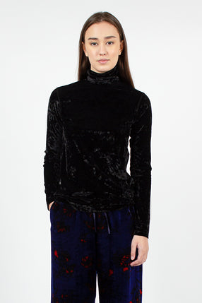 Hoskal Jersey Turtleneck Black Velvet