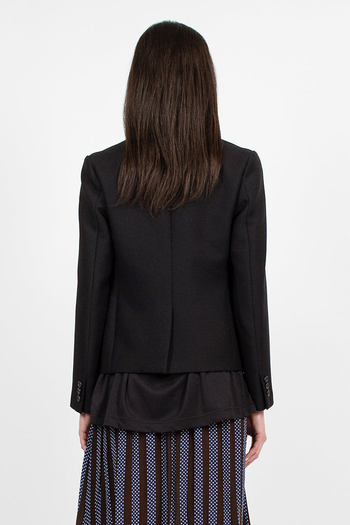 Fitted Cut Black Blazer