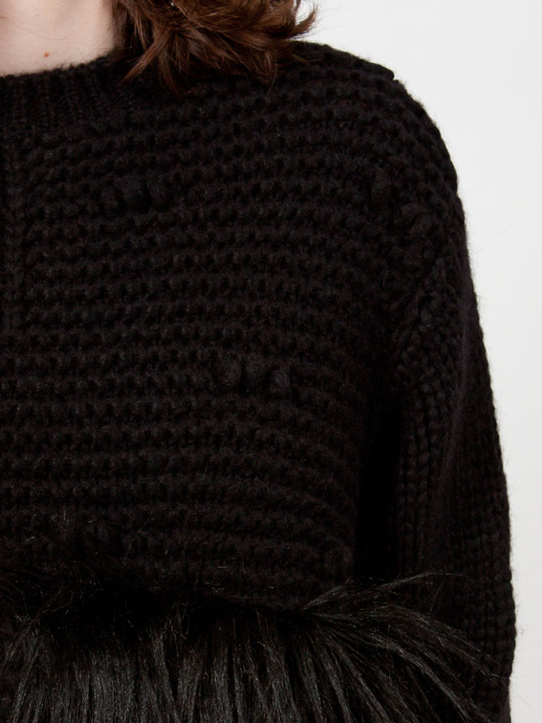 Black Patchwork Jumper
