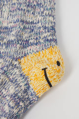 3x1 Rib Smiley Sock Purple