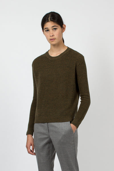 Olive Green Side Slit Jumper