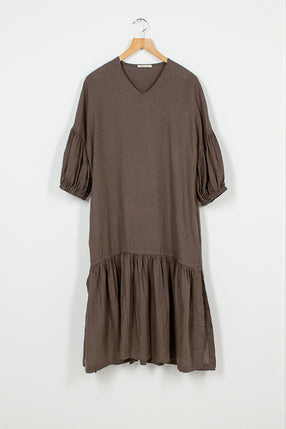 PFD07 Grey Puff Dress