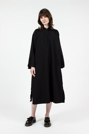 Black Kimono Oxford Dress