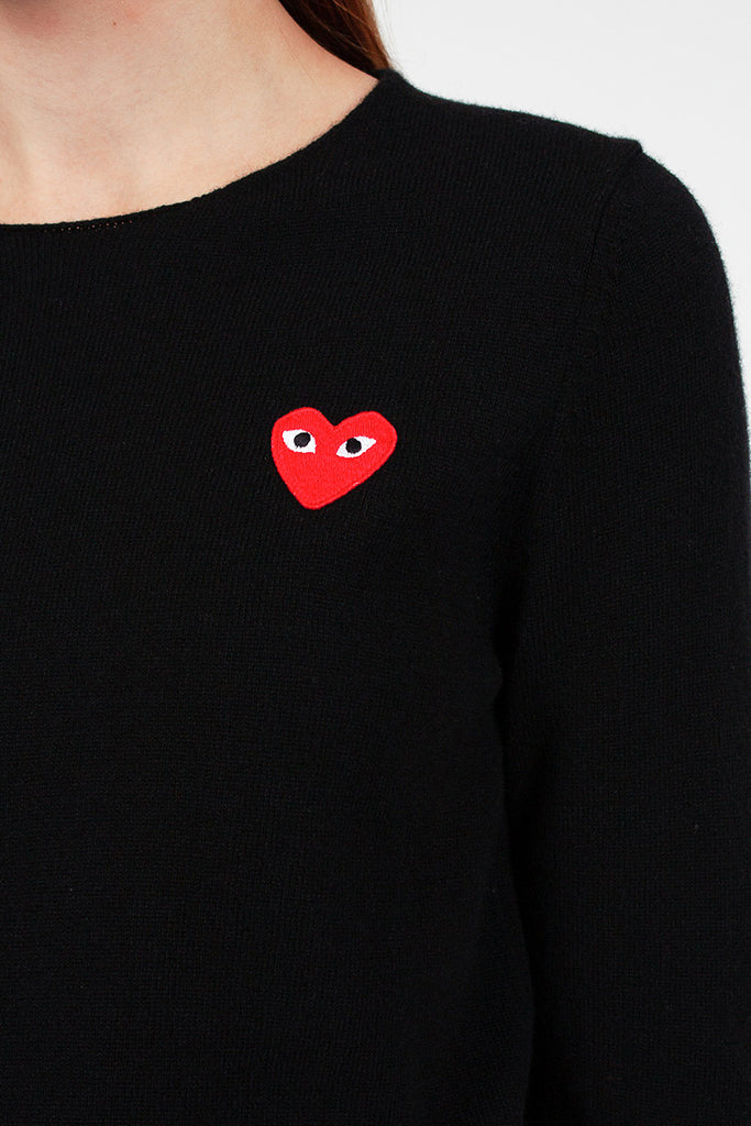 PLAY Black Heart Jumper