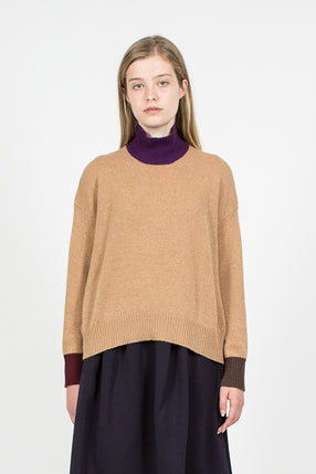 Color Block Knit Jumper