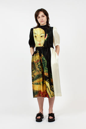 Portrait Print Dress