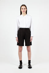 Black Linen Boxer Short