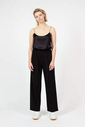 Long Black Wide Leg Pull On