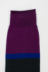 Faraway Knee High Purple Sock