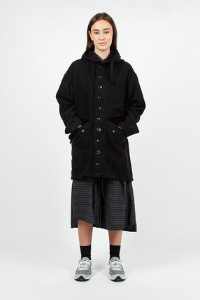 Madison Parka Black Poly Melton