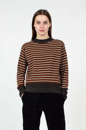 Manda Striped Cashmere Knit