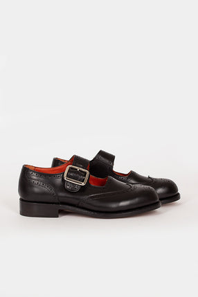 Mary Jane Black Buckle Brogue