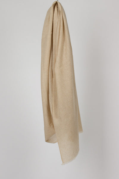 Light Beige Melange Twill Scarf