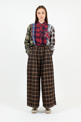 Plaid Twill Military Pant