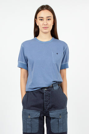 Warm Up Military Tee Washed Blue