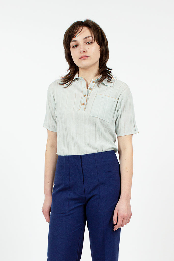 Karina Knit Polo Shirt