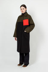 Black/Moss/Orange Capotto Coat