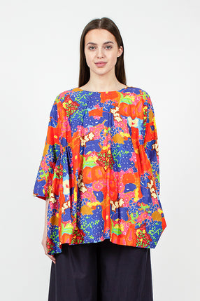 Multi Floral Panel Shirt