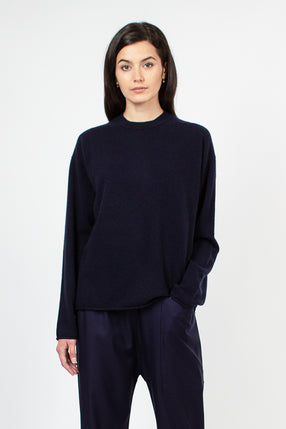 Munch Dark Navy Cashmere Jumper