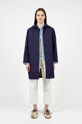 Navy Cocoon Coat