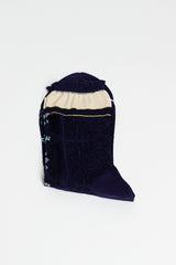 Navy Matte Sheer Lace Sock