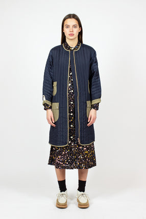 Navy Nylon Space Duna Coat
