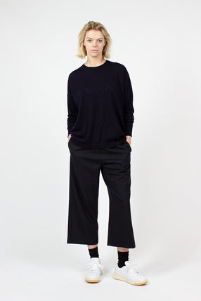 Navy Wide Leg Pull On Pant