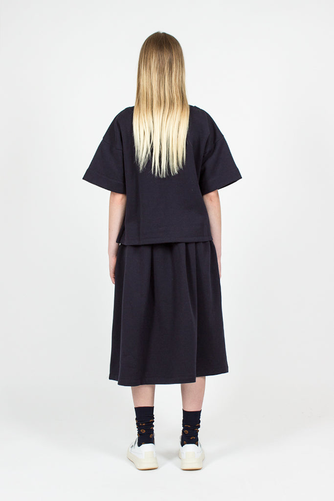 Sweatshirt Skirt Blu/Black