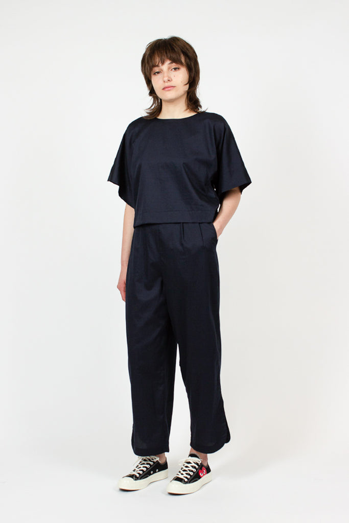 Navy Easy Pants