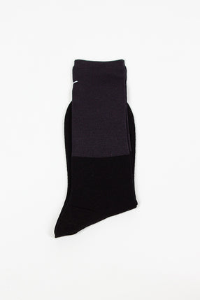 Black/Navy High Sock