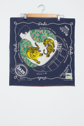 Navy Fastcolour Selvedge Dads Bandana