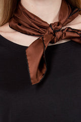 Brown/Black Outline Spot Scarf