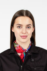 Neckerchief Red Navy Floral